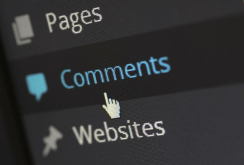 picture of comment bar