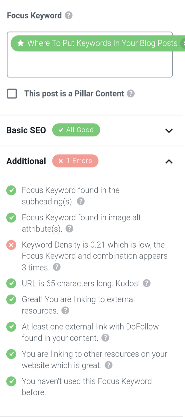 Where to Put Keywords in a Blog Post.