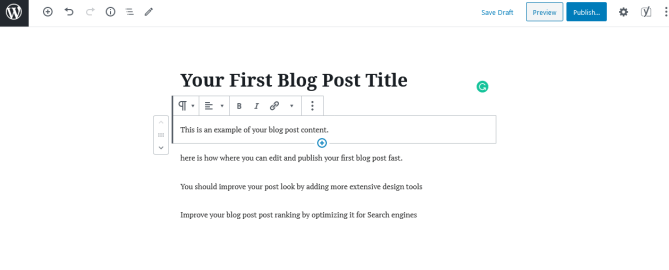 Publish your first blog post