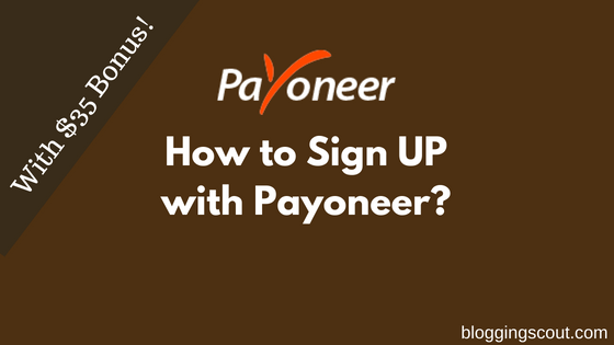 How to Sign UP with Payoneer