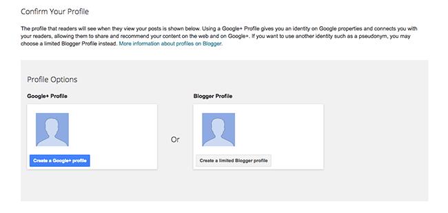 Profile Selection Blogspot