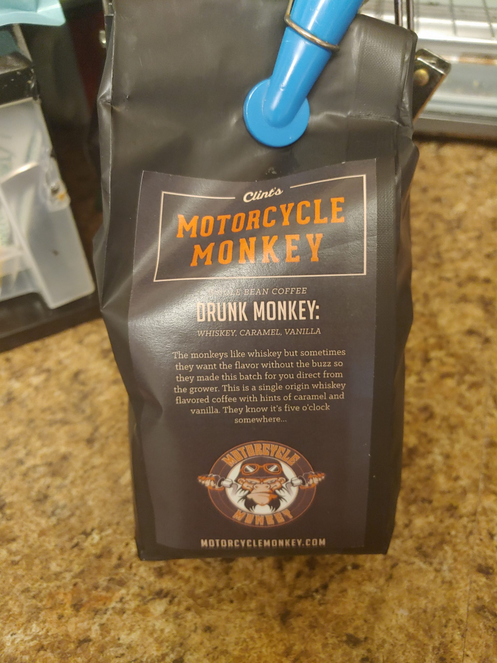 Clint's Motorcycle Monkey Coffee
