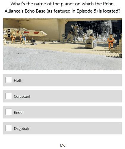 Quiz Cat Demo Example