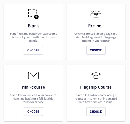 Thinkific - Course templates
