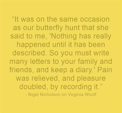 Woolf quote on recording