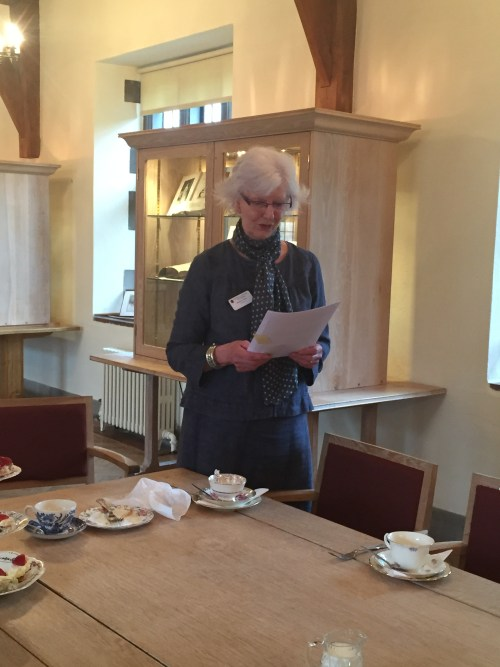 The gracious Barbara Gent, archivist and librarian at Giggleswick School, read us Woolf's diary entries made during her stay.