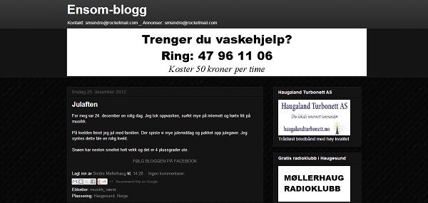 Ensom-blogg