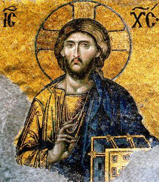 Detail of Deësis mosaic