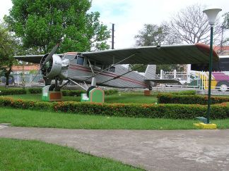 Jimmie Angel's aircraft, El Rio Caroní, exhibited in front of Ciudad Bolívar airport