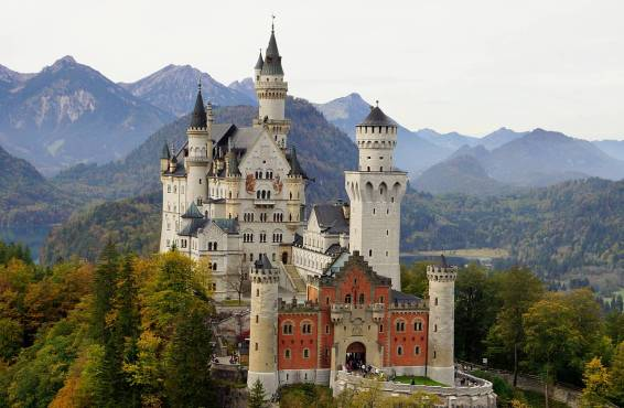 Neuschwanstein Castle in Bavaria.