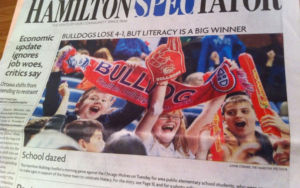 Authentic Student Engagement with the @BulldogsAHL and @HWDSB