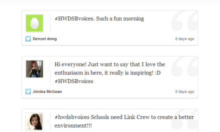 Documenting North Cluster Tweets – @Storify #HWDSBvoices