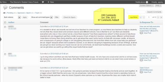 Comments - October 25th, 2012