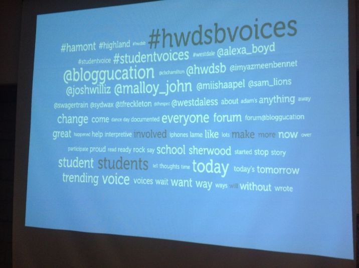 #HWDSBvoices Displayed Using Visible Tweets