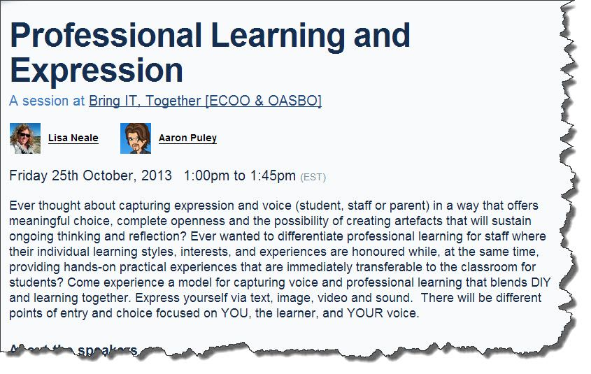 ECOO - Professional Learning