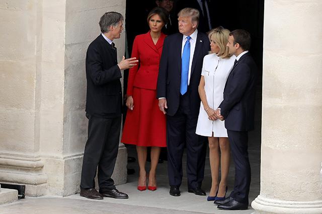 Первый день визита Дональда и Мелании Трамп во Францию: Эммануэль и Брижит Макрон встретили их в Париже