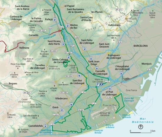 Mapa del Parc Agari del Baix Llobregat