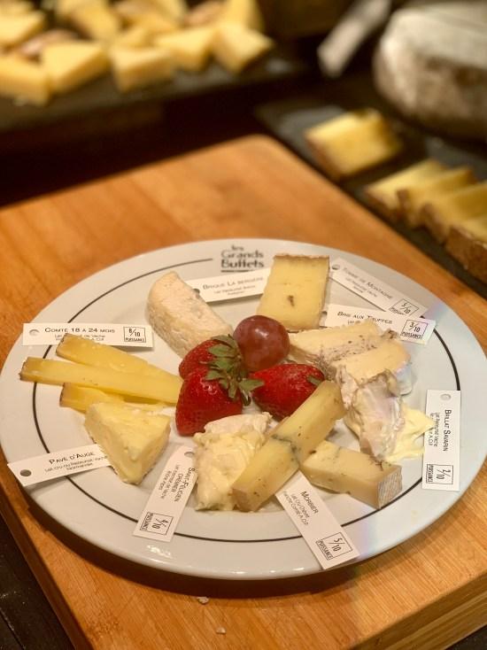 Surtido de quesos en Les Grands Buffets de Narbonne