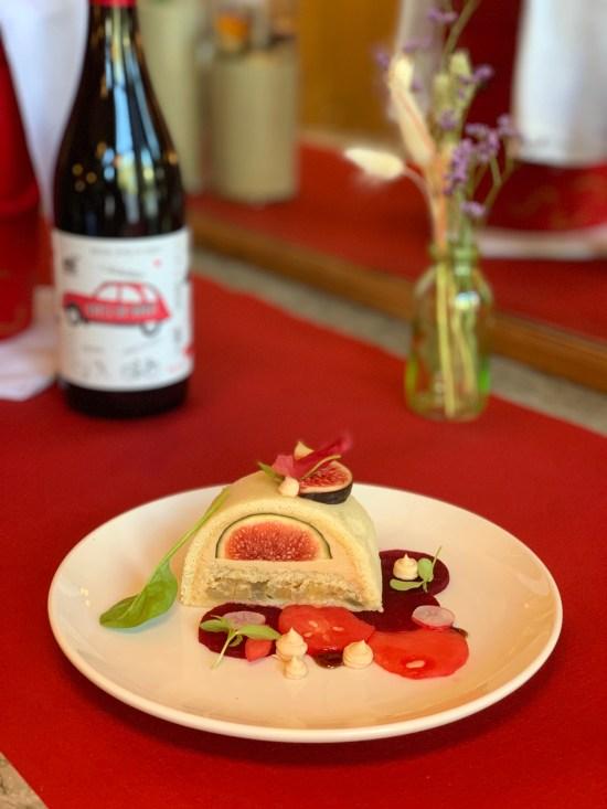 Ópera de foie gras y chutney de higos