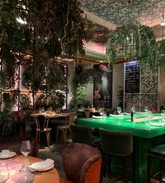 interior decoración restaurante