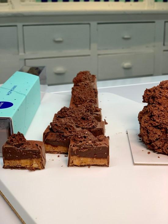 Pastelito individual y turrón de chocolate Volcànic
