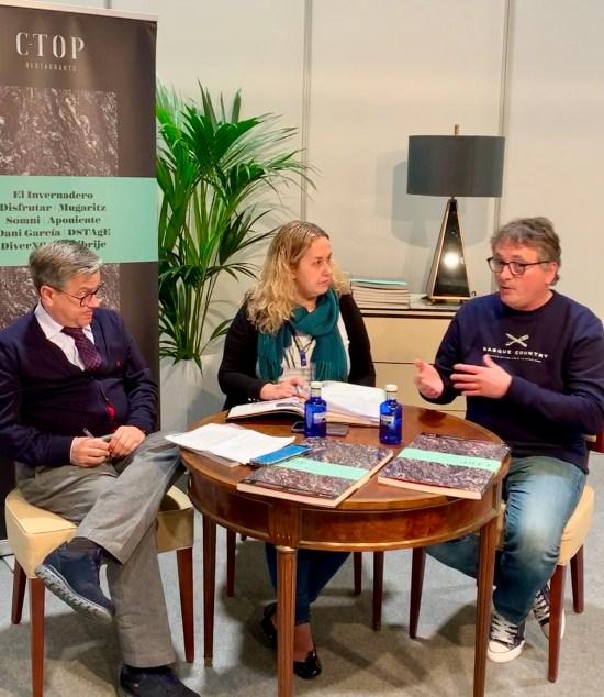 """En la presentación del libro """"C-Top Restaurants"""" en Madrid Fusión 2020"""