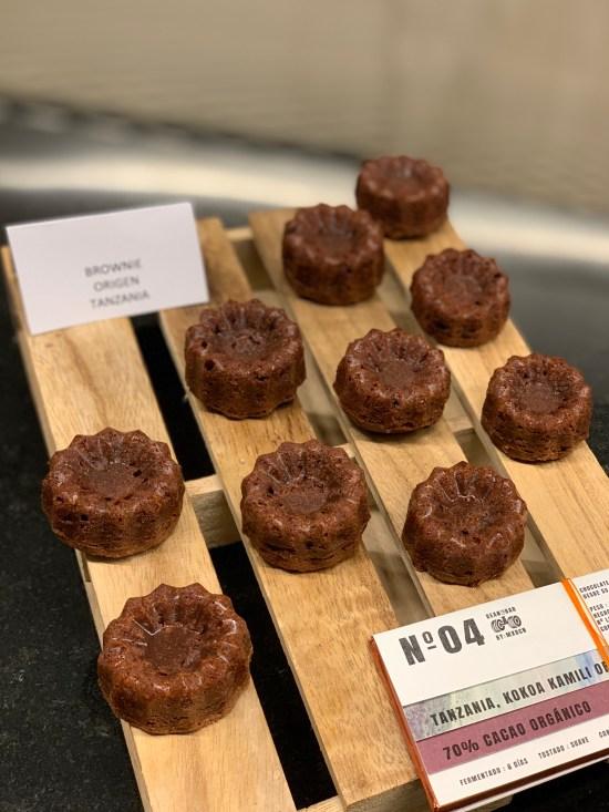 Brownies elaborados con chocolate origen Tanzania