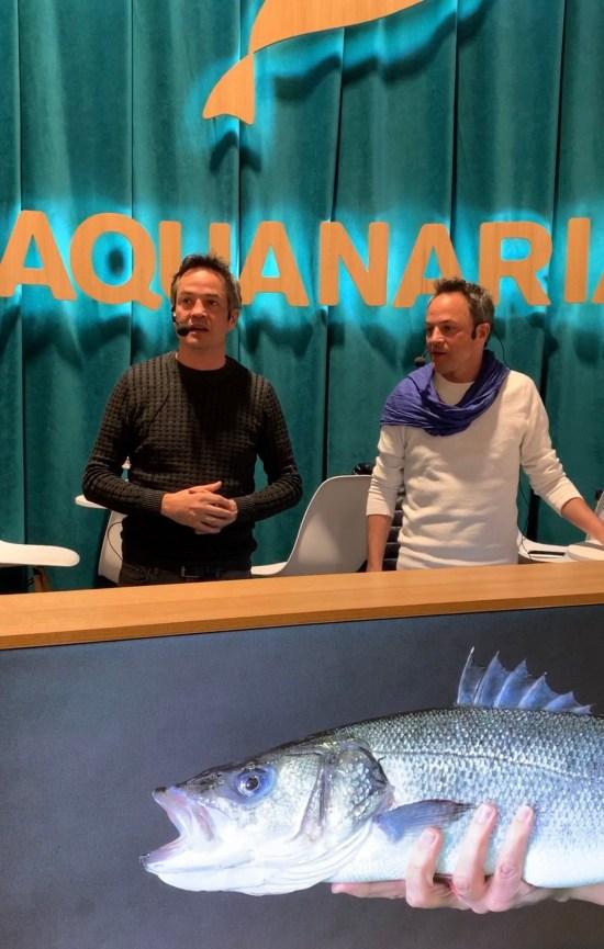 Salen los Hermanos Torres en el stand de Aquanaria en la pasada edición de Madrid Fusión