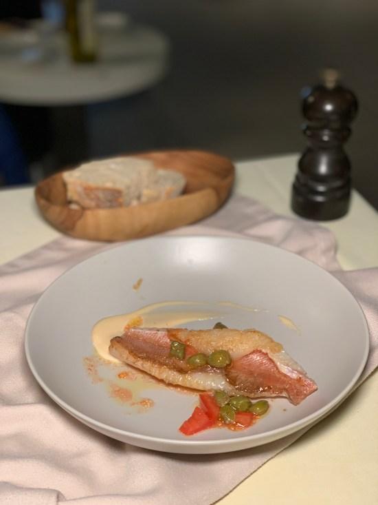 Escórpora (cabracho) En El Blau BCN del chef Marc Roca