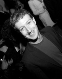 Mark Zuckerberg Black and White Photo
