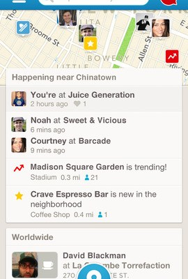 Foursquare iOS Update