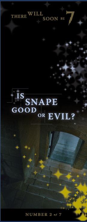 Severus Snape bueno o malo