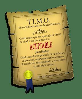 TIMO Nivel 1: Aceptable