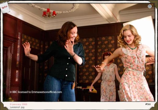 Emma Watson tomando clases de Ballet