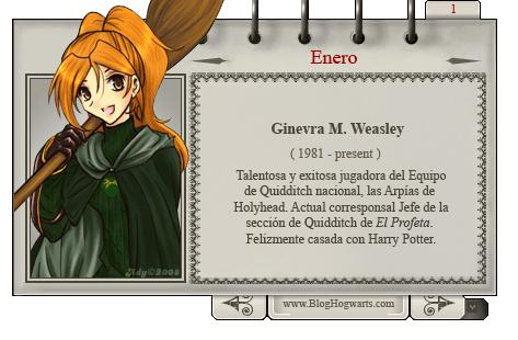 Ginny Weasley - Bruja del Mes Enero
