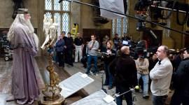 Fotografía en Alta Resolución de Albus Dumbledore en el Rodaje de 'El Príncipe'