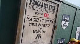 Decretos Ministeriales aparecen en el Parque Temático de Harry Potter