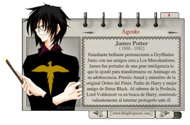 James Potter – Mago del Mes Agosto