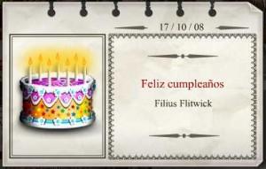 Feliz Cumpleaños, Filius Flitwick