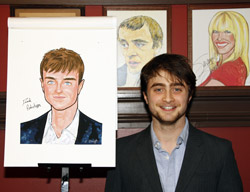 Imágenes de Caricatura de Daniel Radcliffe en el 'Sardi's Restaurant' de Broadway