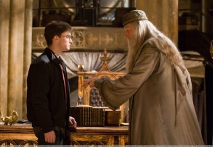 Harry Potter y Albus Dumbledore