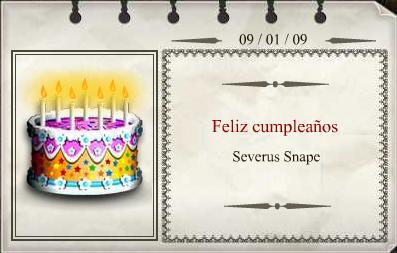 Severus Snape Cumpleaños