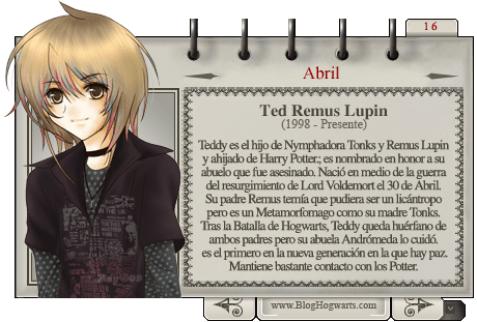 Teddy Lupin Mago del Mes de Abril