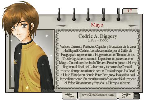 Cedric Diggory Mago del Mes Mayo