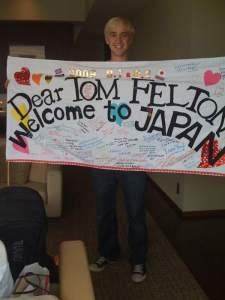 Tom Felton en Japón