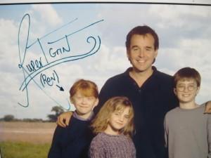 Chris Columbus, Rupert Grint, Emma Watson y Daniel Radcliffe