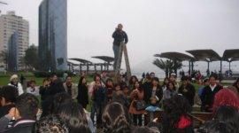 Imágenes del Primer Flashmob de 'Harry Potter' en Lima, Perú!