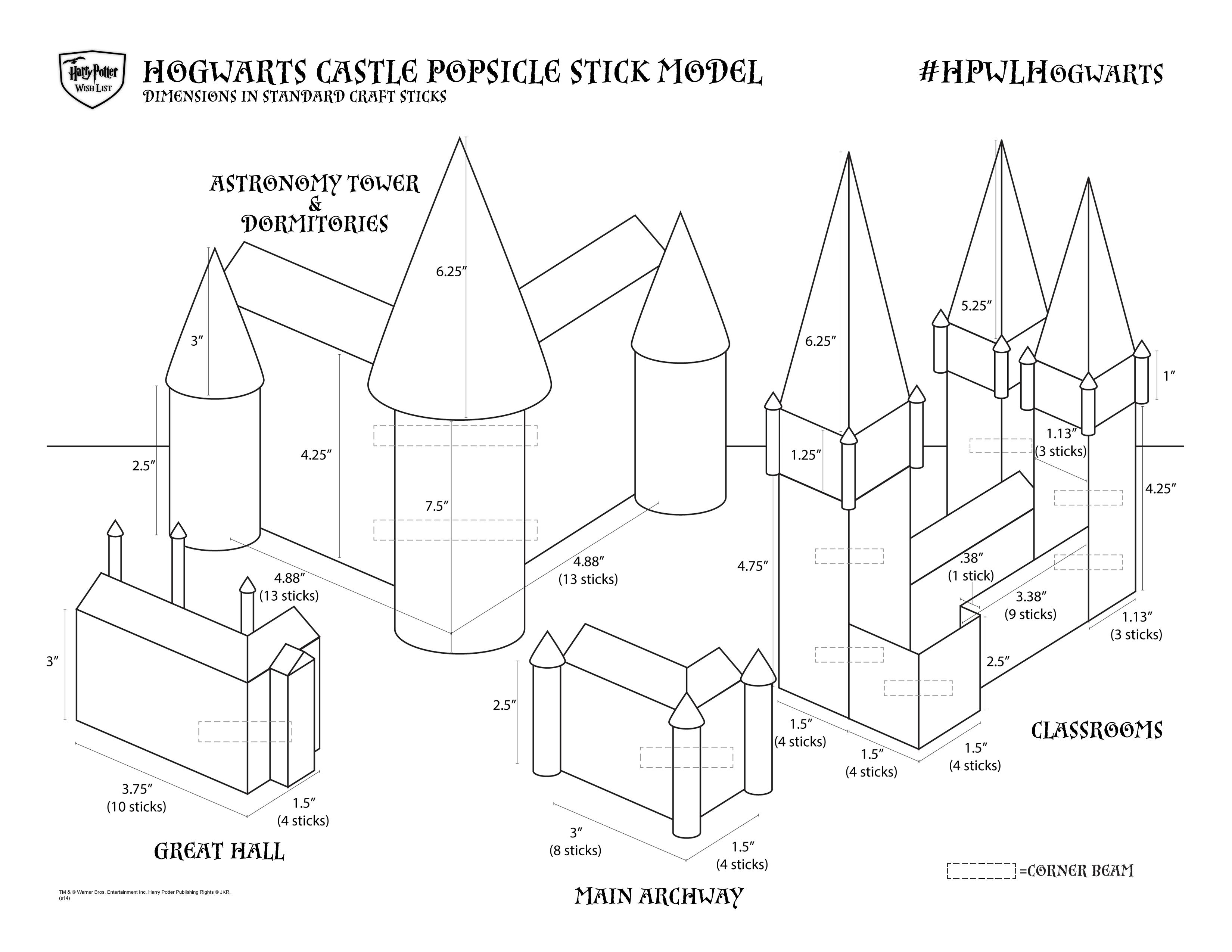 Hazlo Tu Mismo Castillo De Hogwarts Con Palitos De Helado Blog
