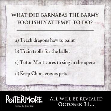 """""""Truco"""" de Pottermore: El Inusual Tapiz de Barnabás el Chiflado"""