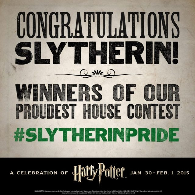 Harry Potter BlogHogwarts Ganadores Slytherin Pottermore